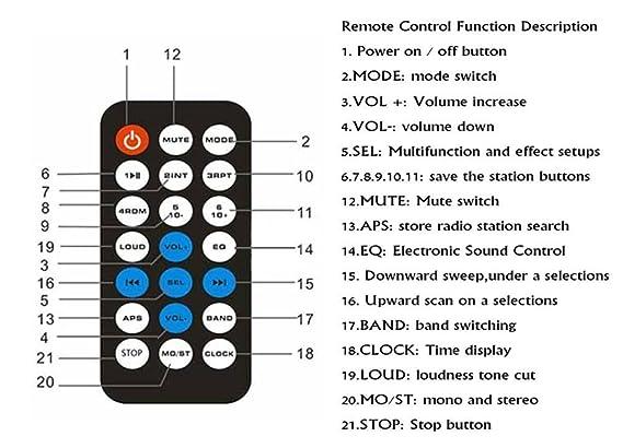 Auto Radio Coche Bluetooth Estéreo, CCRoom Single-DIN coche estéreo Bluetooth en Dash con receptores de control remoto: Amazon.es: Electrónica
