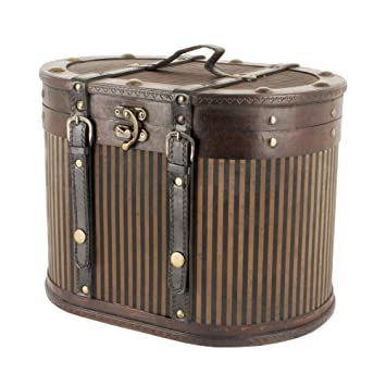 Estilo de madera de la vendimia Réplica Caja de Sombrero - ideas del regalo para -