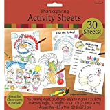 """Amscan Festive Fall Thanksgiving Party Thanksgiving Activity Sheets, White, 8.5"""" X 11"""""""