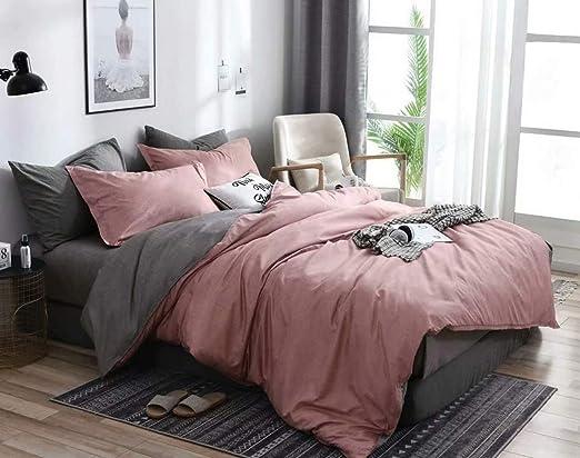 Amazon.com: Couturebridal Blush Pink Gray Duvet Cover Set Queen