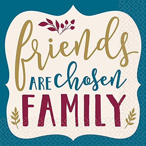 Friends are Chosen Family Beverage Napkins