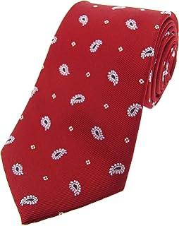 7cf7b275087f Soprano Peach Luxury Paisley Silk Tie And Hanky(Size: Tie 8cms Wide ...