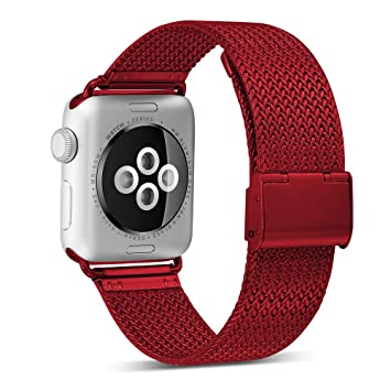 GIPENG Compatible para Correa Apple Watch 38MM 40MM 42MM 44MM, Acero Inoxidable Milanese Sport Correa, Compatible para iWatch Series 4 Series 3, ...