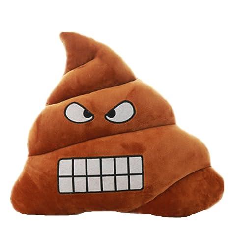 Annoda Suave Poo Emoji Emoticon Cojín De Almohada De Dibujos Animados Peluche De Peluche Muñeca De Juguete (Enfado)