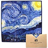 """EXTRA LARGE [4 Pack] Classic Art (Vincent Van Gogh """"Starry Night"""") - ULTRA PREMIUM QUALITY Clean & Clear Microfiber Cleaning Cloths (Best for Camera Lens, Glasses, Screens, and all Lens.)"""
