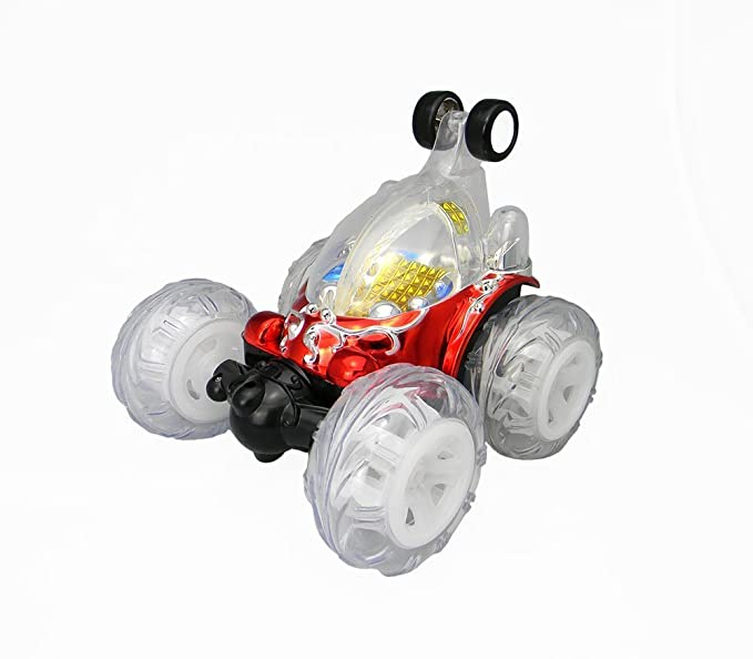 Turbo 360 Twister Rc Stunt Car con las luces que destellan recargable azul o rojo: Amazon.es: Juguetes y juegos