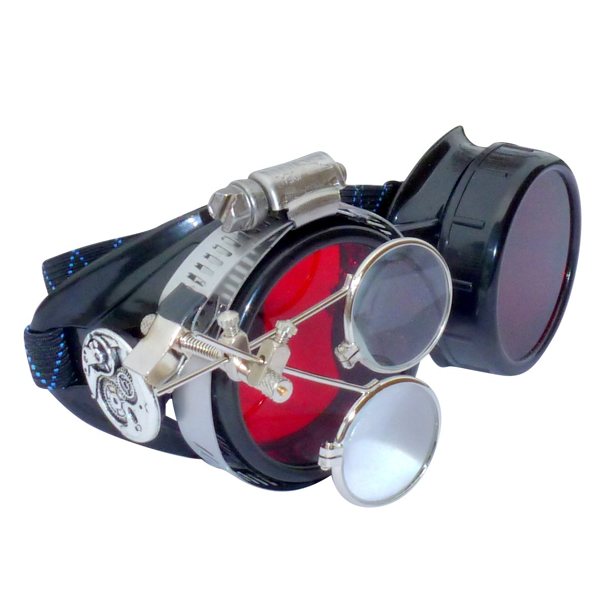 Steampunk Goggles Victorian Novelty Glasses cosplay CWG red 1x with mag. loops