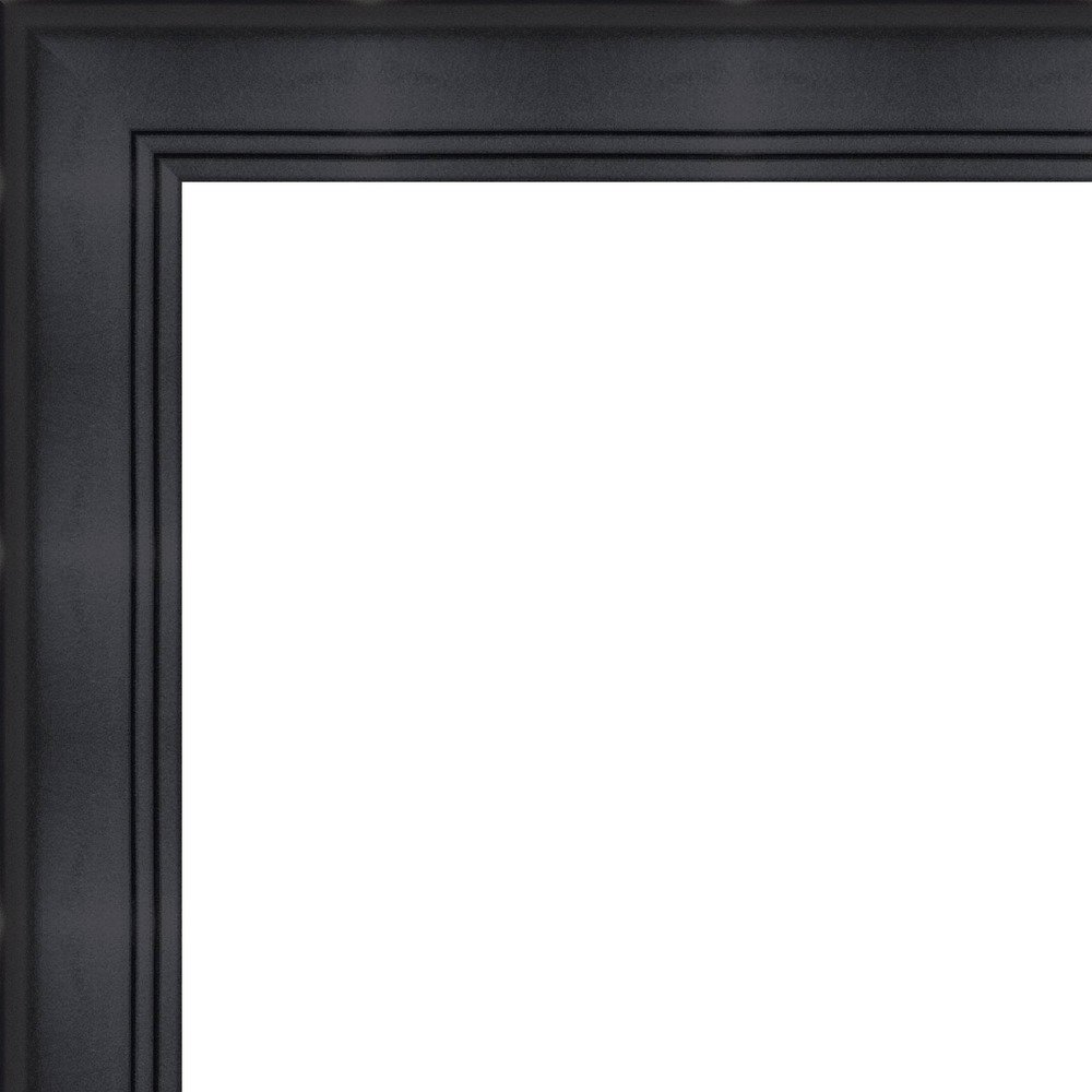 30x40 - 30 x 40 Contemporary Black Solid Wood Frame with UV Framer's Acrylic & Foam Board Backing - Great For a Photo, Poster, Painting, Document, or Mirror