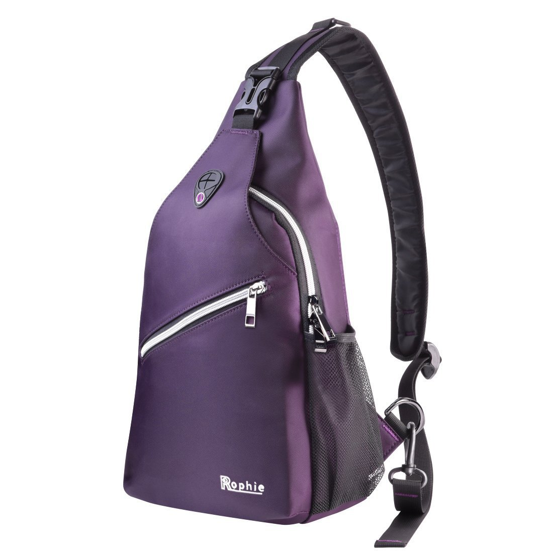 Sling Shoulder Bags, Rophie Nylon Chest Crossbody Bag Single Shoulder Backpacks Multipurpose Casual Daypacks for Outdoor Sports Travel Camping Hiking for Man Women Boys Girls, Purple