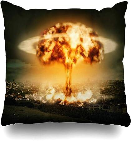 Guerra Cuscini.Bk Creativity Fodere Cuscino Esplosione Della Guerra Dell Idrogeno