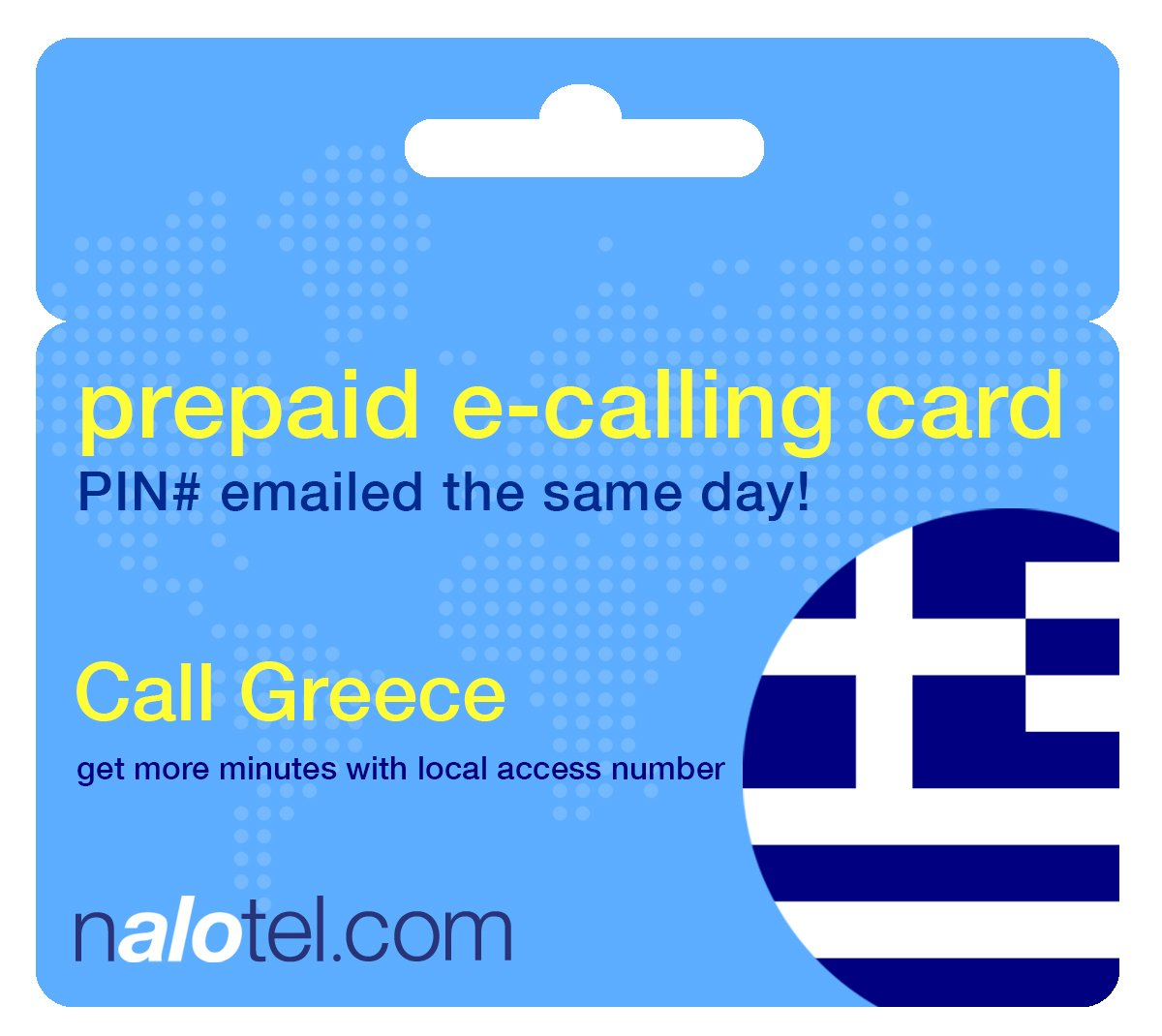 Prepaid Phone Card - Cheap International E-Calling Card $20 for Greece with same day emailed PIN, no postage necessary