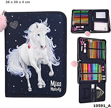 TOP MODEL- Estuche lápices lleno Miss Melody, azul (0010591), Multicolor (DEPESCHE 1): Amazon.es: Juguetes y juegos