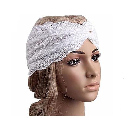 Fashion Women Girls Lace Retro Sport Yoga Turban Headscarf Twist Head Wrap  Headband Headwear Twisted Knotted 8959ae7920b5