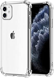 Connect Clear Case compatible with iPhone 11 case 6.1 inch| Cute Slim Shock Proof Shock Absorbing Scratch resistant drop protection soft flexible TPU frame cover