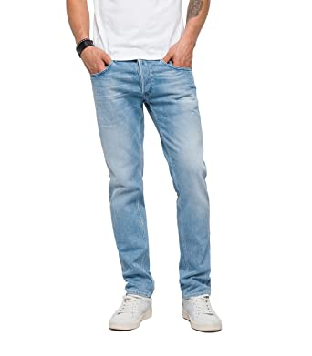 7acb90f3 Replay Men's Grover Slim Jeans, Blue (Blue Denim 11), W30/L30