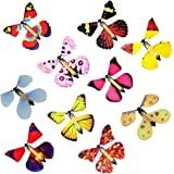 10 PCS Magic Fairy Flying Butterfly in the Book, Butterfly Rubber Band Powered Wind up Butterfly Toy, Novelty Wind Up Toys fo