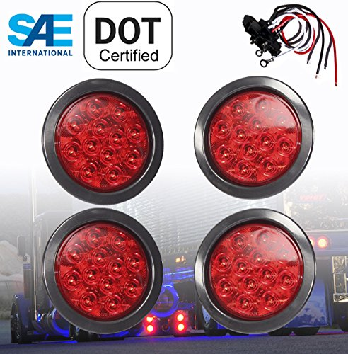 4In Round Led Tail Lights - 2
