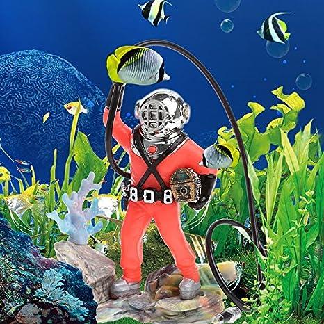 Global Brands Online Decoraciã³n del Acuario Hunter Treasure Figure Acciã³n Ornamento del Tanque de Peces Acuario Realista Diseã±o: Amazon.es: Productos ...