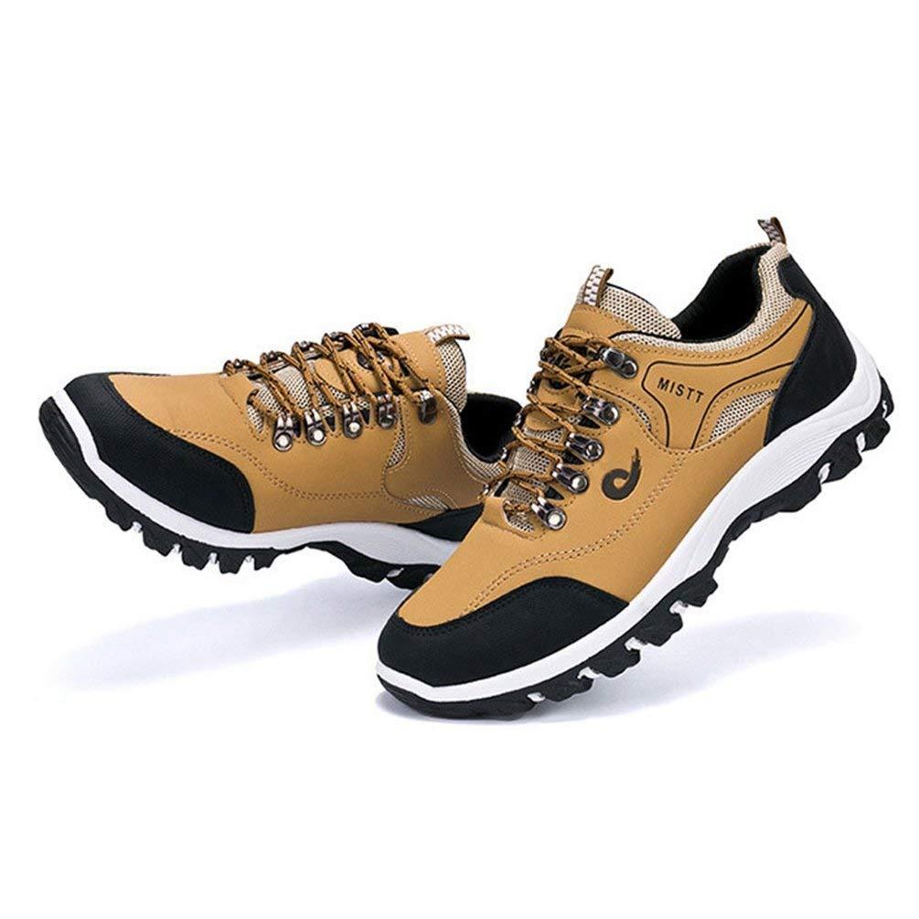 ZHRUI Männer Freizeitschuhe Freizeitschuhe Freizeitschuhe Herbst Winter Schuhe Atmungsaktive Weiche Schuhe Lace-up Outdoor Wanderschuhe (Farbe   Gelb, Größe   9.5UK=44EU) b8be2c