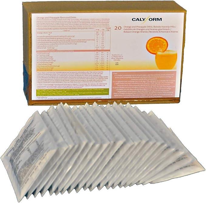 CALYFORM Batidos Proteínas para dieta sabor Naranja y Piña | Bebida proteica en polvo saciante Proteína dietética de calidad y aporte en aminoácidos ...