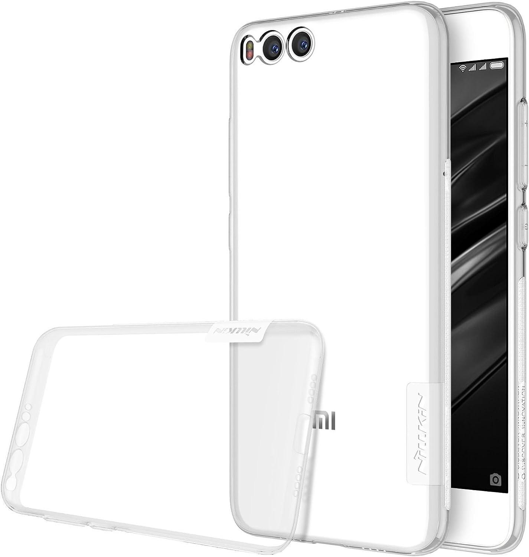 Nillkin Nature- Funda Xiaomi MI6, Carcasa trasera Xiaomi MI6 Protector Bumper Antideslizante de Gel TPU para Xiaomi MI6 Ultra Slim Cover Case - Transparente