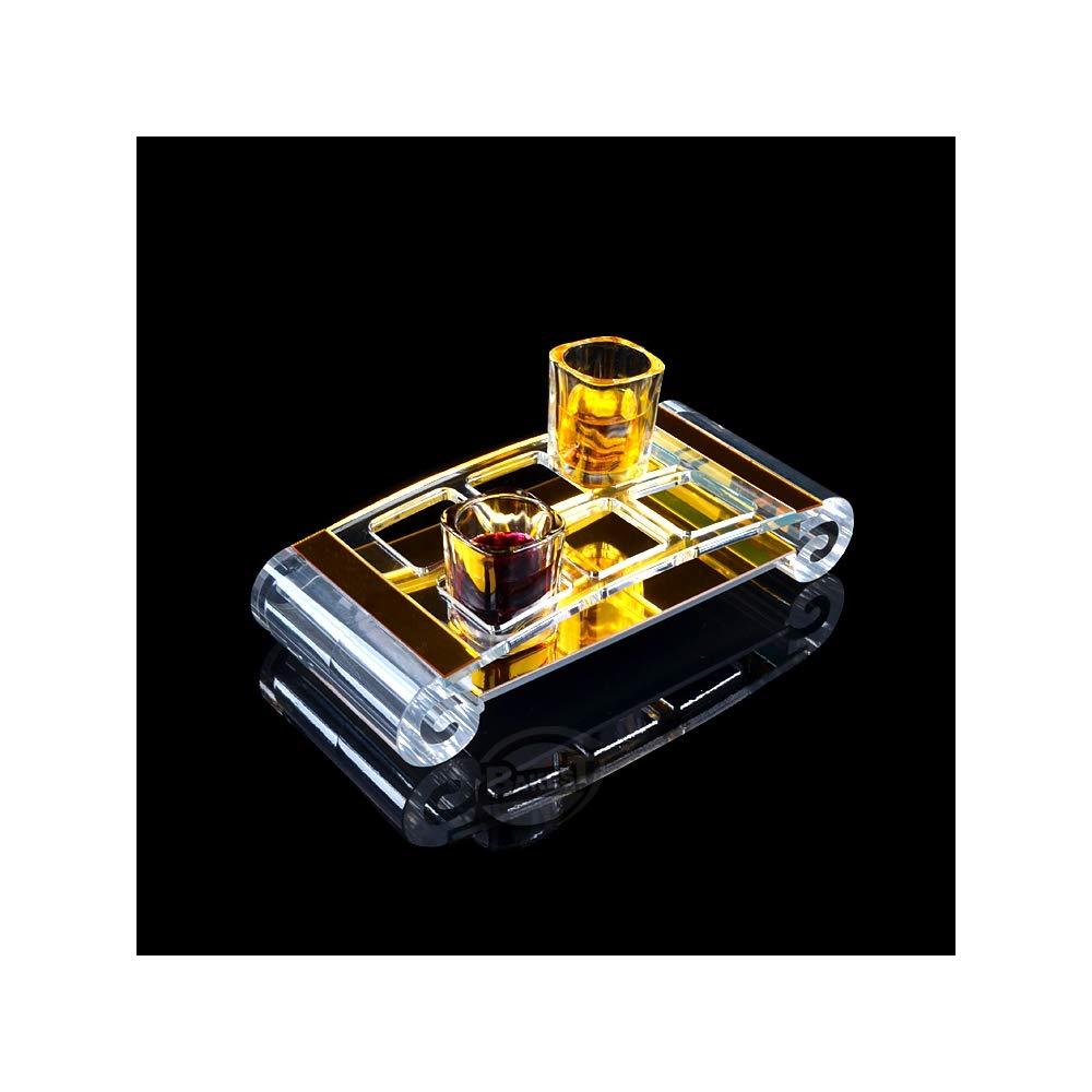 ZHOUMOJJ 4646mm Aperture Square Hole 6 Heads Spirit Cup Holder Acrylic Liquor Cup