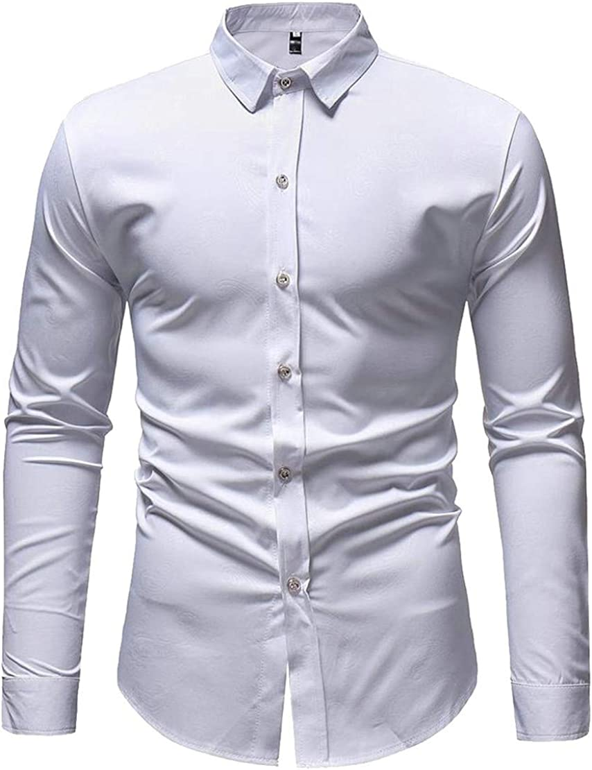Wopop Mens Stylish Floral Print Curved Hem Lapel Neck Button Down Shirts