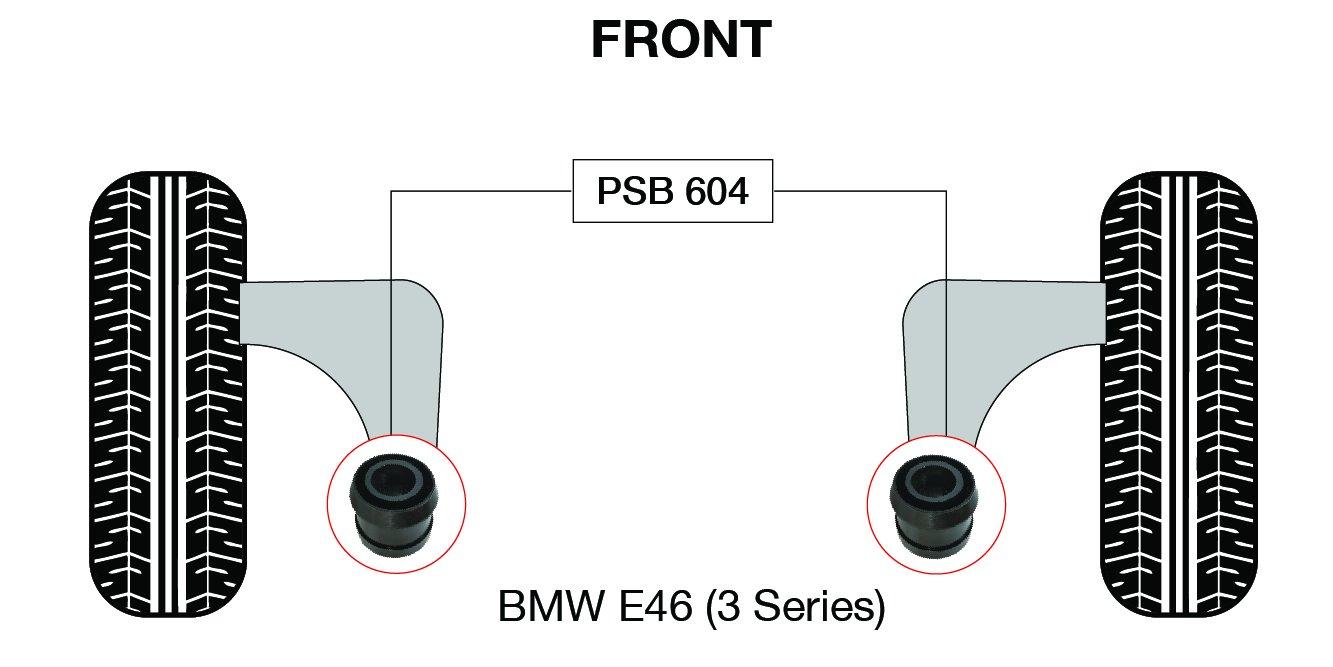 604 98-05 BMW E46 3 Series Front Wishbone Rear Bushing