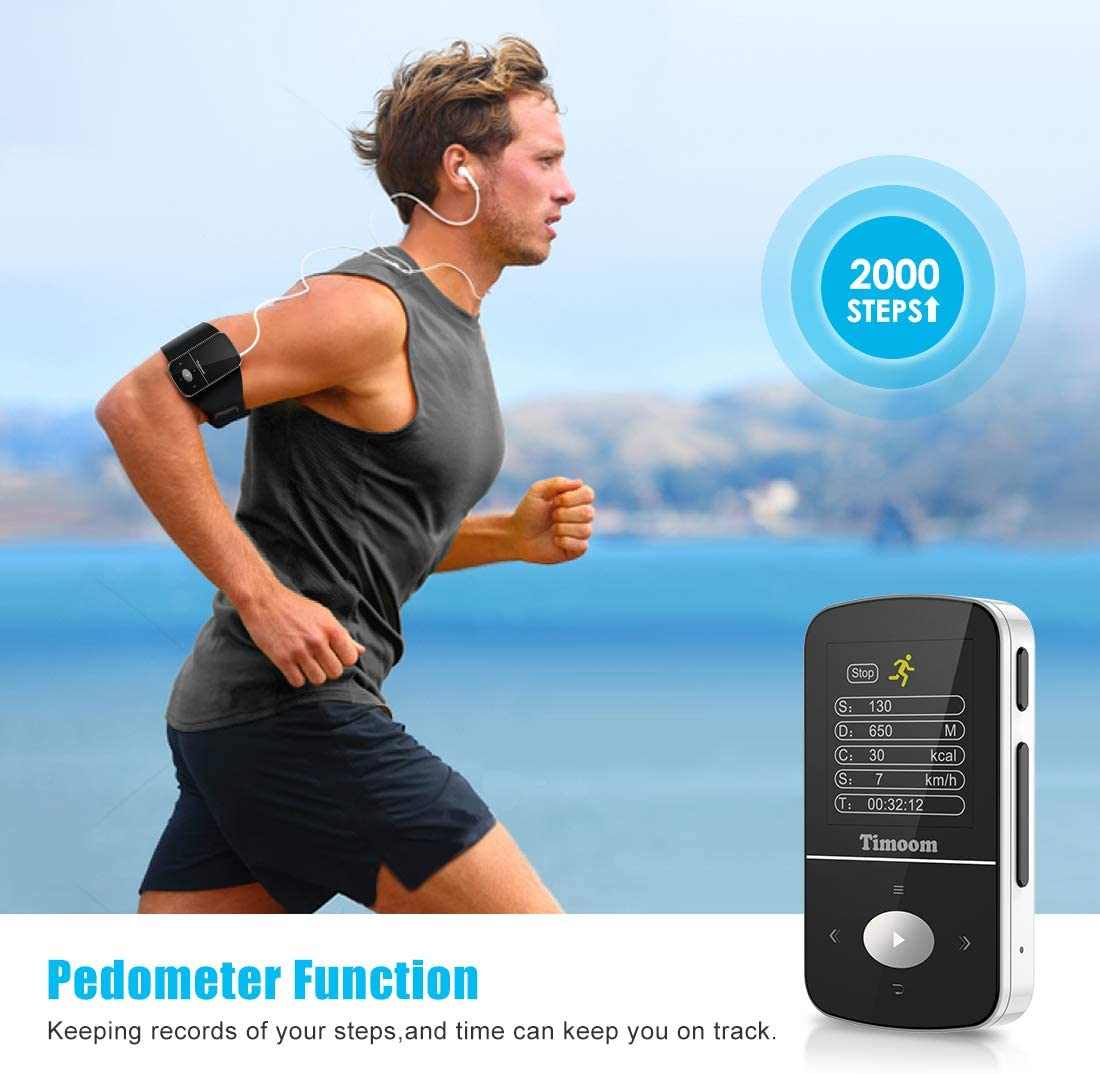 Sostegno SD USB TF Fino alla Carta di 128GB MP3 Player per Sport e ...