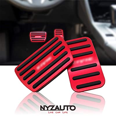 NYZAUTO Anti-Slip Performance Foot Pedal Pads for Honda 10th Civic,Auto No Drilling Aluminum Brake and Accelerator Pedal Covers Red: Automotive