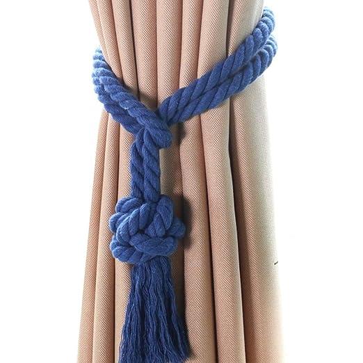 Cortinas de corbata 1 par tejer a mano la cuerda de la cortina ...
