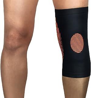 JYMDH Sports Care Genou Compression Shin Garde Jambières Extérieur Basketball Alpinisme Squat Équipement De Protection,Orange,XL