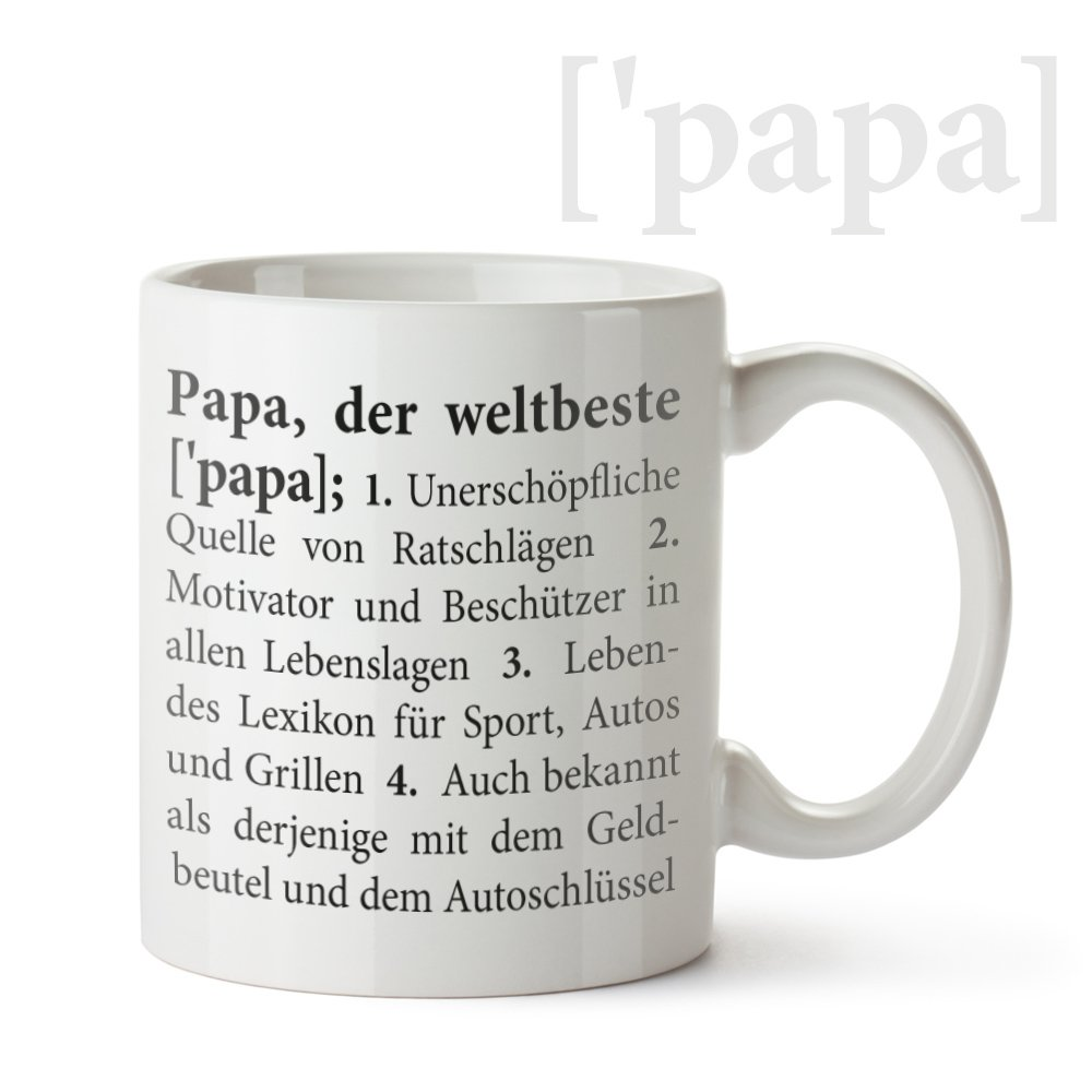 Tasse mit Aufdruck – Definition Papa - Standard – Originelle ...