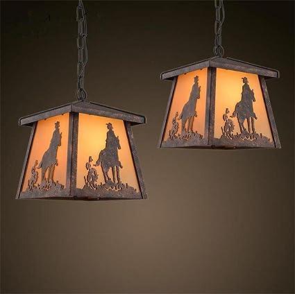 Atmko®Iluminación colgante Lámparas de araña Araña de hierro ...