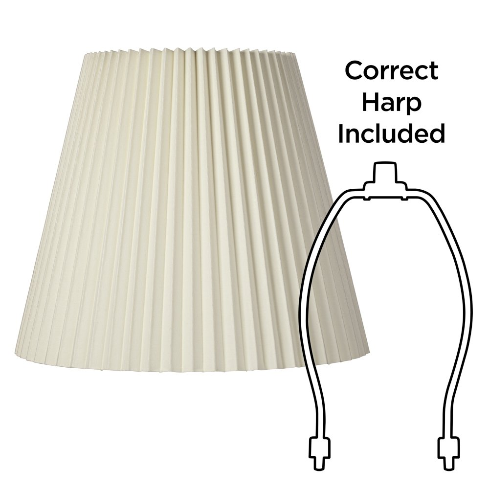 Ivory Pleated Shade 10x17x14.75 (Spider) by Brentwood (Image #6)