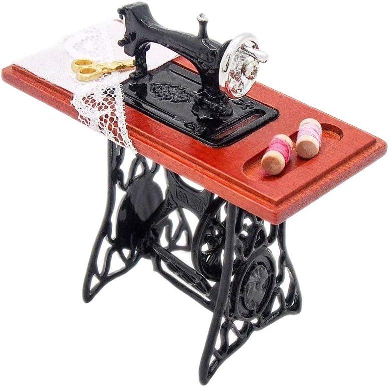 Amazon.es: Odoria 1/12 Miniatura Máquina de Coser Vendimia ...