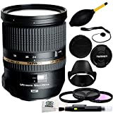 Tamron SP 24-70mm Di VC USD Nikon Mount (Model A007N) + 3 Piece Filter Kit (UV-CPL-FLD) + Lens Cap Keeper + Dust Blower + Lens Cleaning Pen + Microfiber Cleaning Cloth
