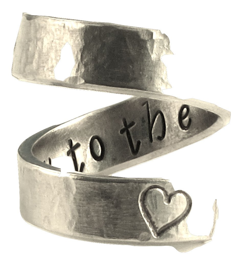 I Love You to the Moon and Back - Friendship Ring - Wrap Ring