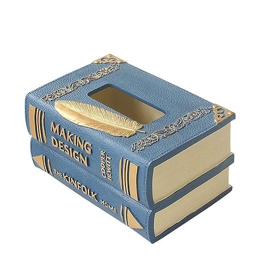 YZPZJH Cubierta de la Caja del Tejido, Elegante Libro de Madera ...