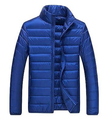xiaohuoban Womens Packable Down Jacket Stand Collar Puffer Lightweight Jacket
