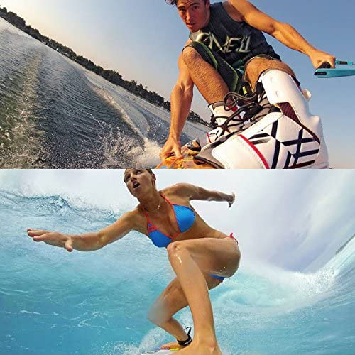 Black 3//2 1 Color : White Electronics Accessory Kits 10 Items Board Mount Surf Snowboard Wakeboard Set for GoPro Hero 4//3+