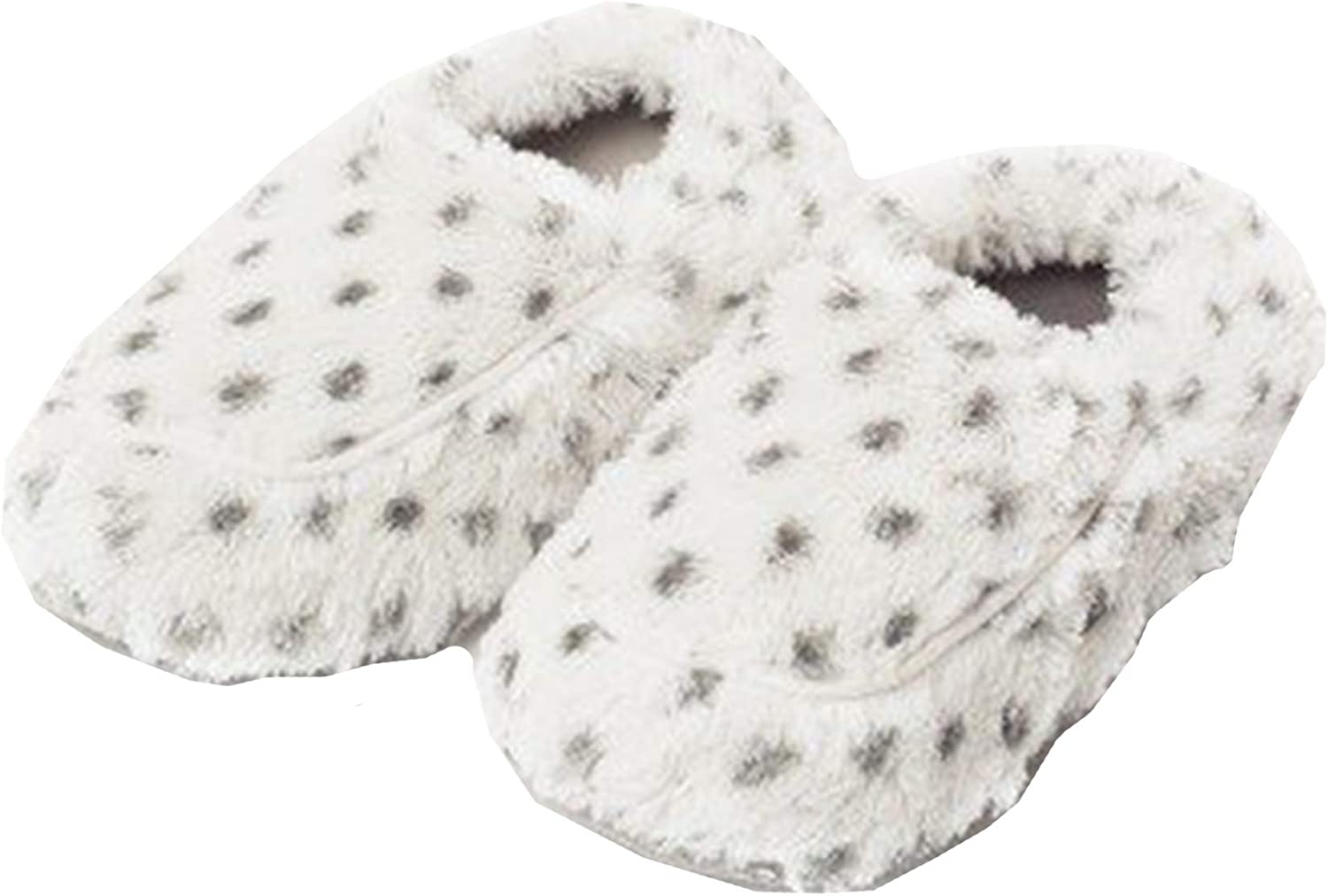 Intelex Fully Microwavable Luxury Cozy Slippers Snowy