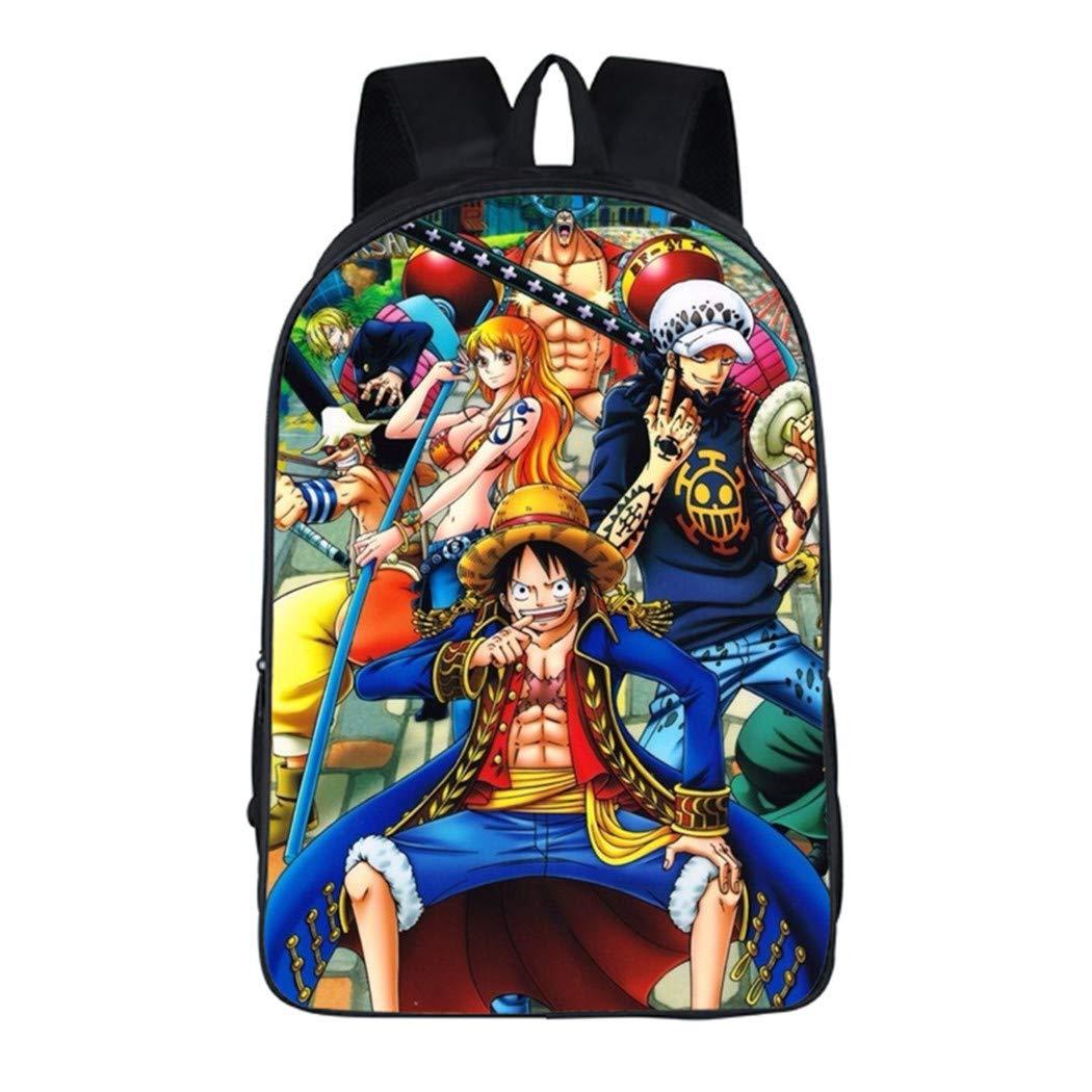 Cosstars One Piece Anime Imagen Conjunto de Mochila Escolar Bolsas de Papelerí a Estudiantes Backpack Set /1