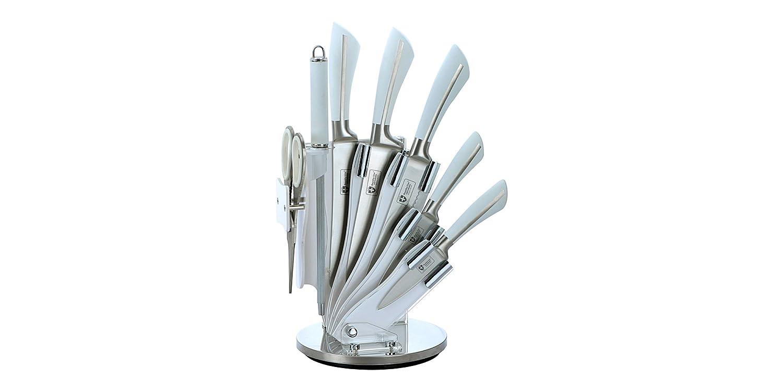Royalty RL-KSS750 - Juego de 8 Cuchillos de Cocina, Multiuso, Color Gris