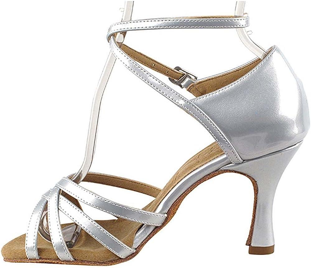 Womens Ballroom Dance Shoes Tango Wedding Salsa Shoes Sera1606EB Comfortable-Very Fine 2.5 Bundle of 5