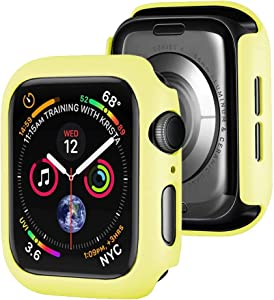 Winso Matte Hard PC Case Compatible with Apple Watch Series SE 6/5/4 Lightweight Thin Protective Bumper Cover for iWatch Yellow 40mm