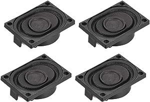 uxcell 4 Ohm 3W Round Internal Magnet Speaker for Laptop Loudspeaker 4pcs