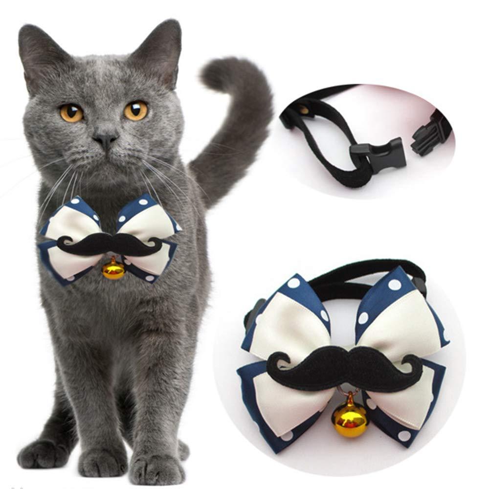 ALiYangYang - Collar para Gato con Campana Dorada y Lazo Negro con ...