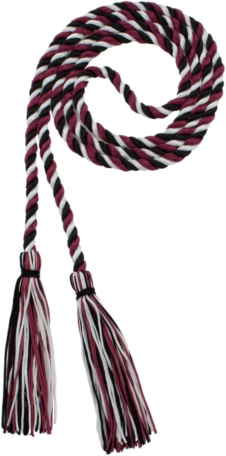 Made in USA Honor Cord Every School Color Available NAVY//MAROON//WHITE By Tassel Depot