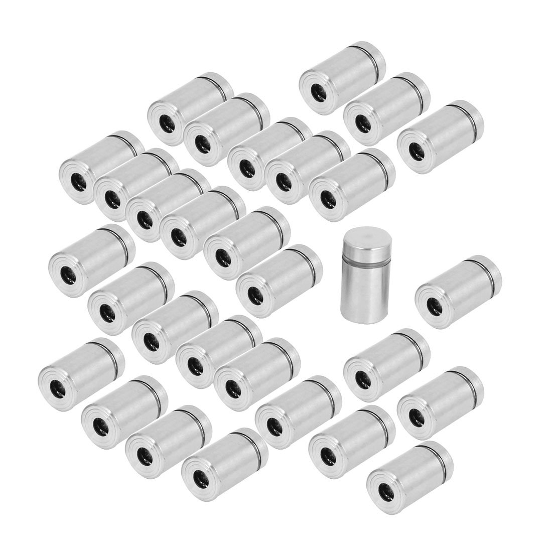 Uxcell a15041500ux0273 Stainless Steel Advertising Nail Wall Support Glass Standoff Fixing Screw (Pack of 30)